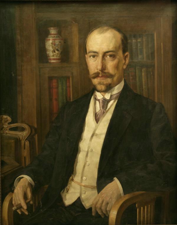 Pavel Alekseevich Vlasov. Portrait of a man with a cigar