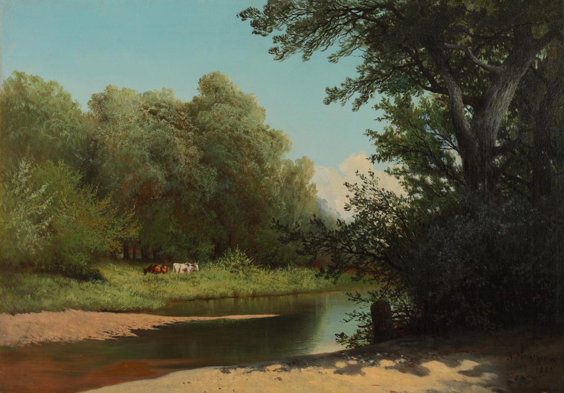 Arseniy Ivanovich Meshchersky. Forest stream