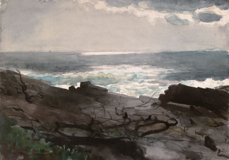 Winslow Homer. The sunlight and shadows. Peninsula Prouts Neck
