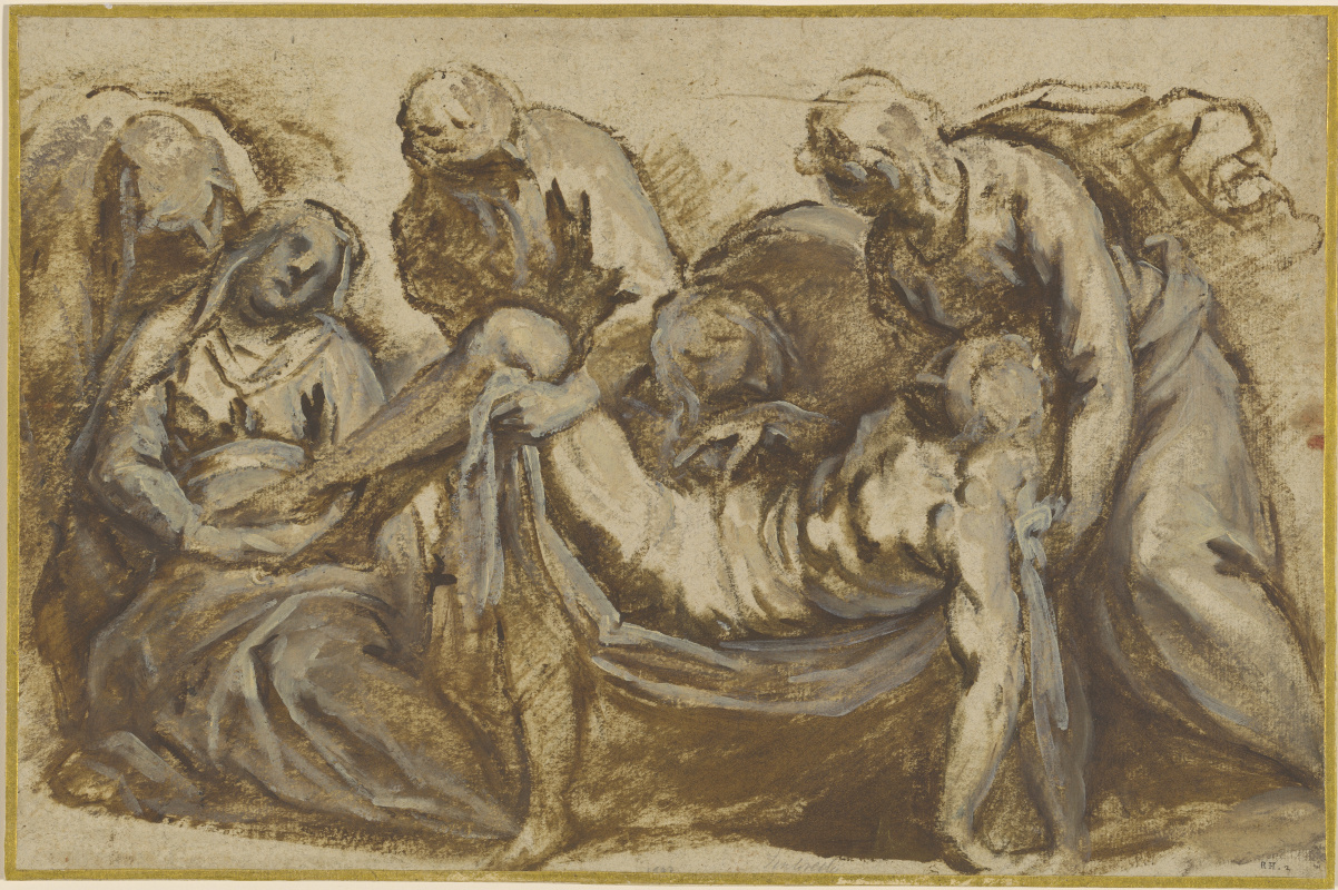Jacopo Palma Junior. Christ is carried to the tomb