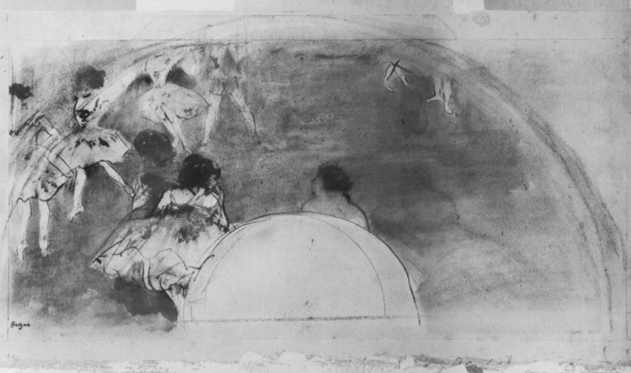 Эдгар Дега. Эскиз веера: Балерины