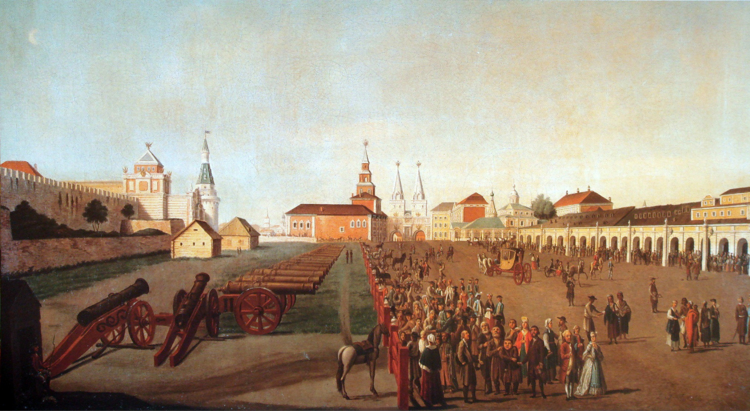 Friedrich Hilferding. Red Square in Moscow