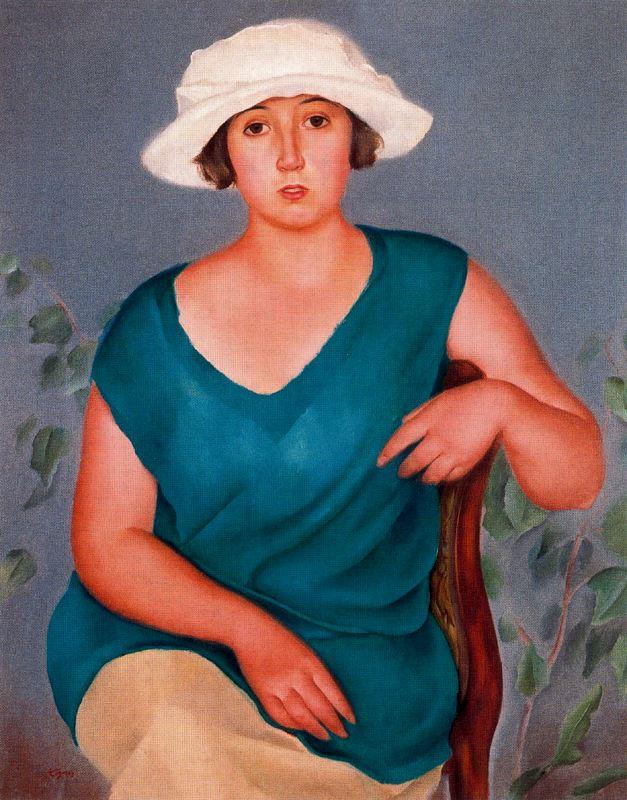 Хосе де Тогорес. Женщина в белой шляпе
