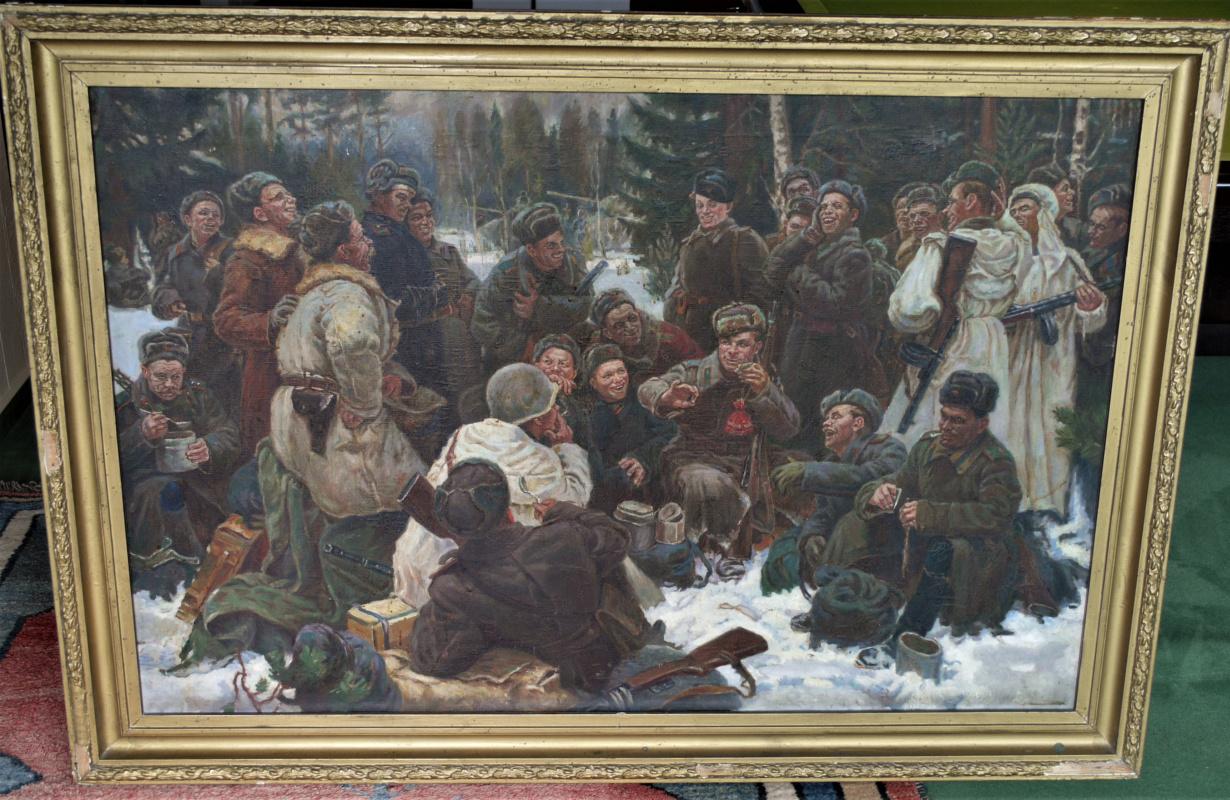 "Unknown artist. ""Rest after the battle. Wassili Terkin"""