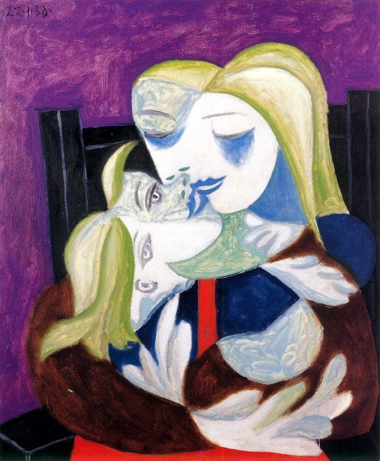 Пабло Пикассо. Женщина и ребёнок (Мария-Тереза и Майя)