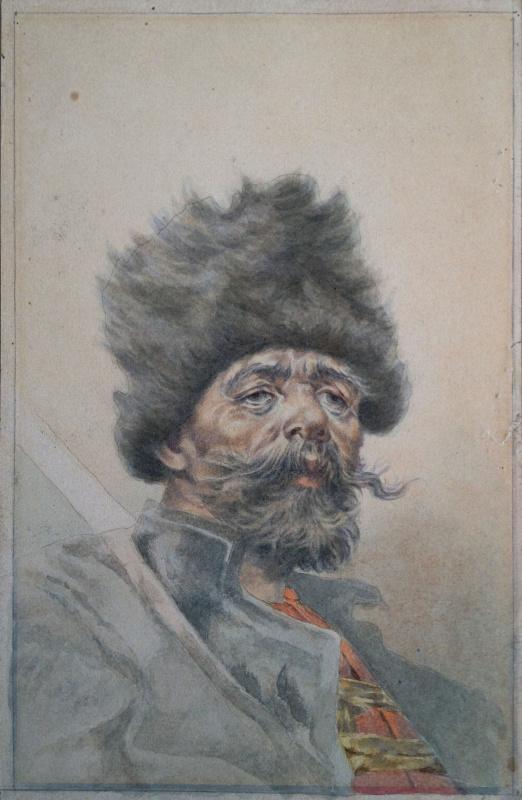 """Иван Исидорович Ижакевич. """"Старики"""" серия из 4 работ"""
