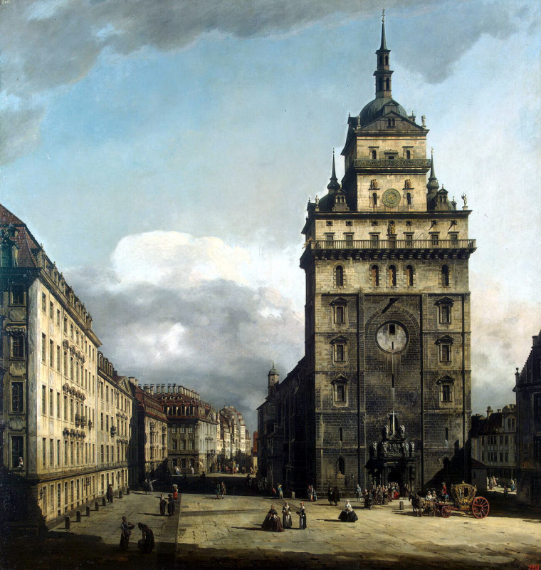 Bernardo Bellotto. The area in front of the Kreuzkirche in Dresden