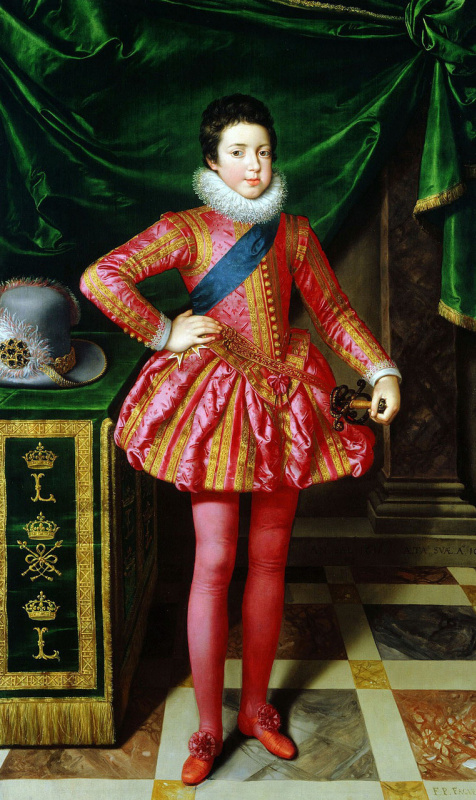 Франс Пурбус Младший. Портрет Людовика XIII