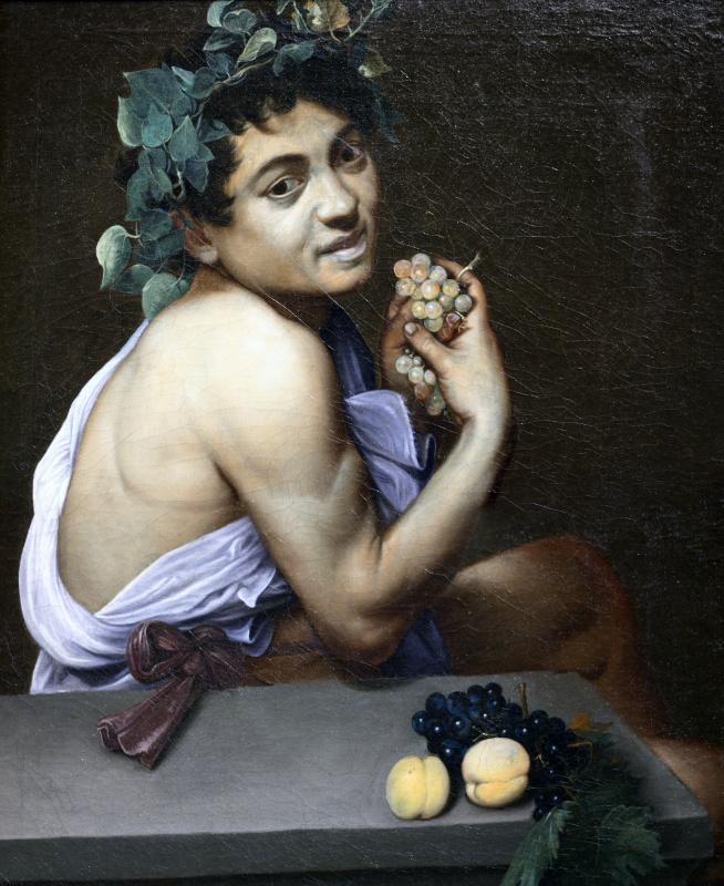 Michelangelo Merisi de Caravaggio. Sick Bacchus (self-Portrait in mirror)