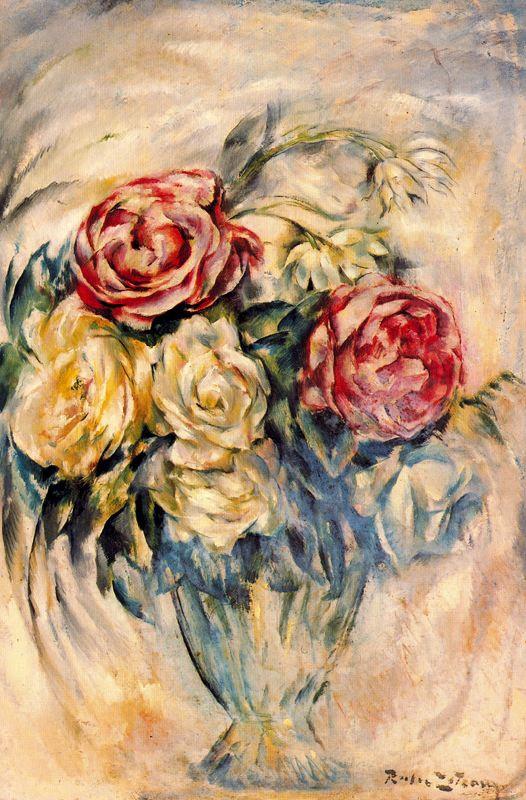 Рафаэль Эстрани. Розы в вазе