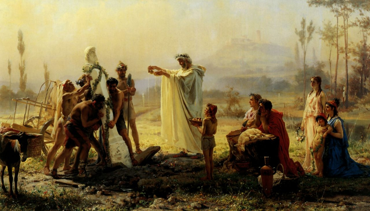 Fedor Andreevich Bronnikov. Consecration of the Herm