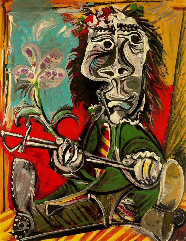 Пабло Пикассо. Мужчина со шпагой и цветком