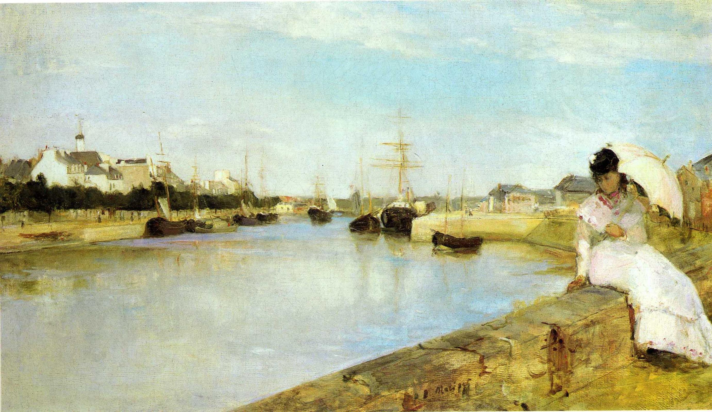 Berthe Morisot. The port in Lorient