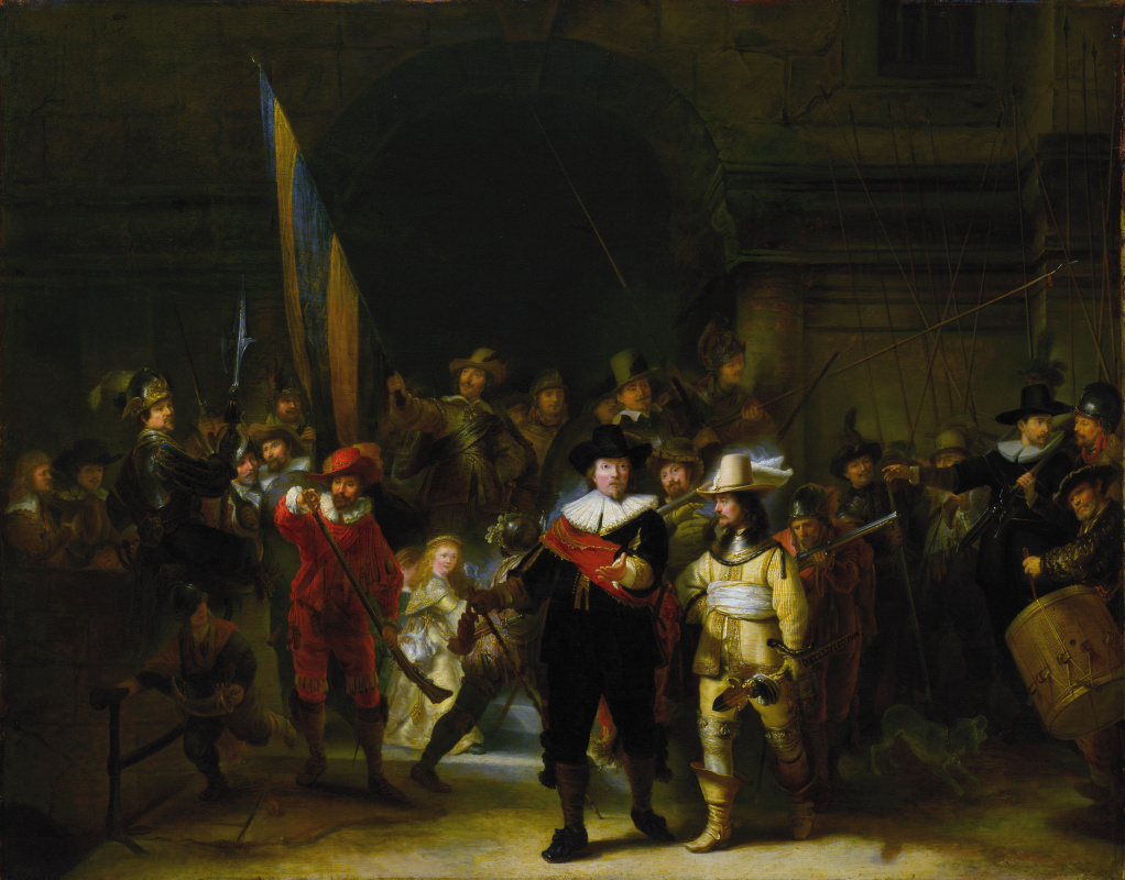 Gerrit Ludens. The night's watch. Copy of painting by Rembrandt
