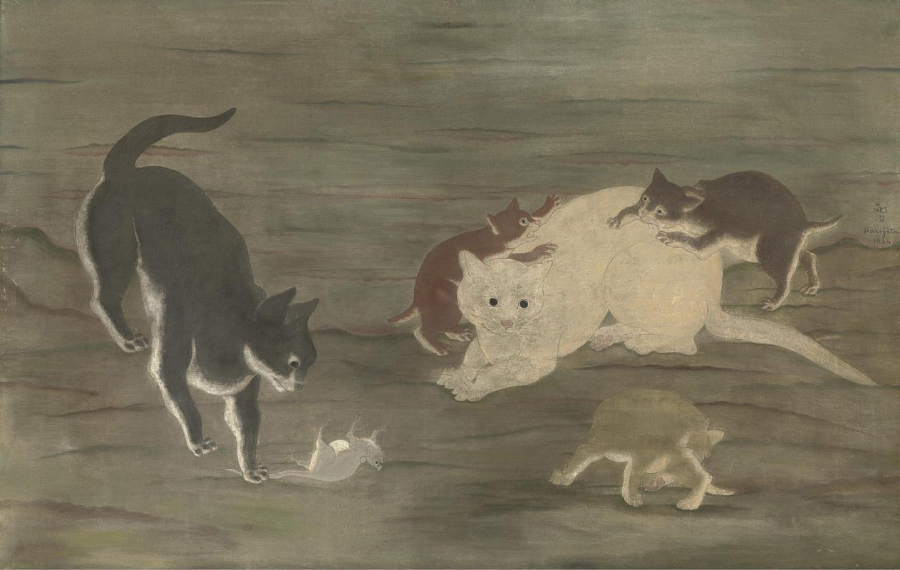 Цугухару Фудзита ( Леонар Фужита ). Chats et souris