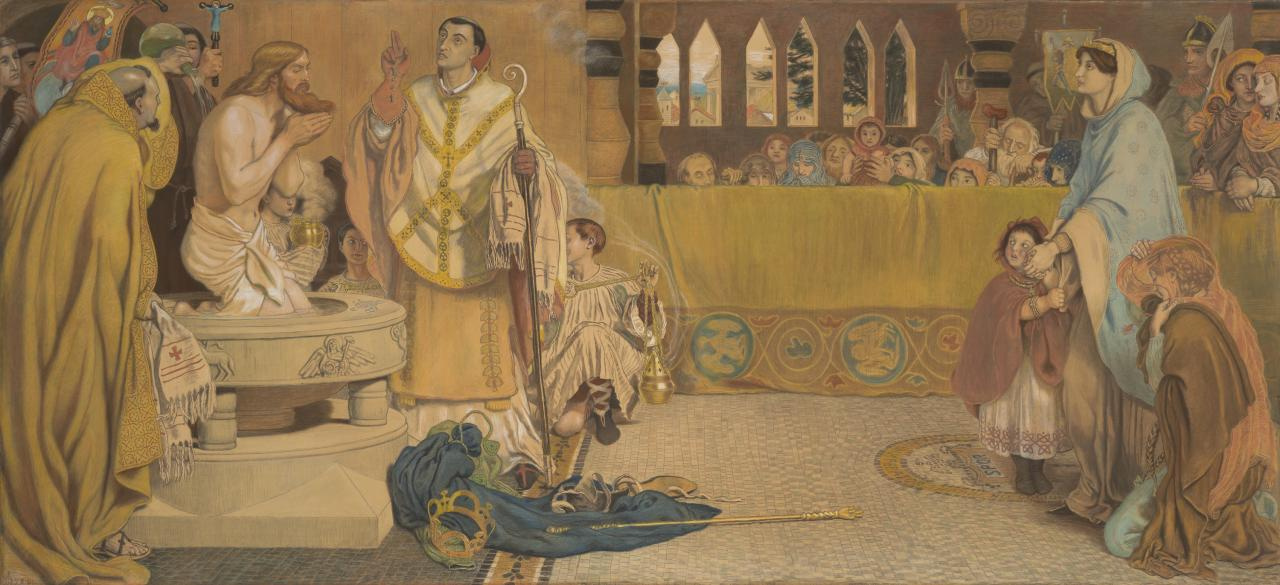 Ford Madox Brown. The baptism of Edwin, king of Northumbria