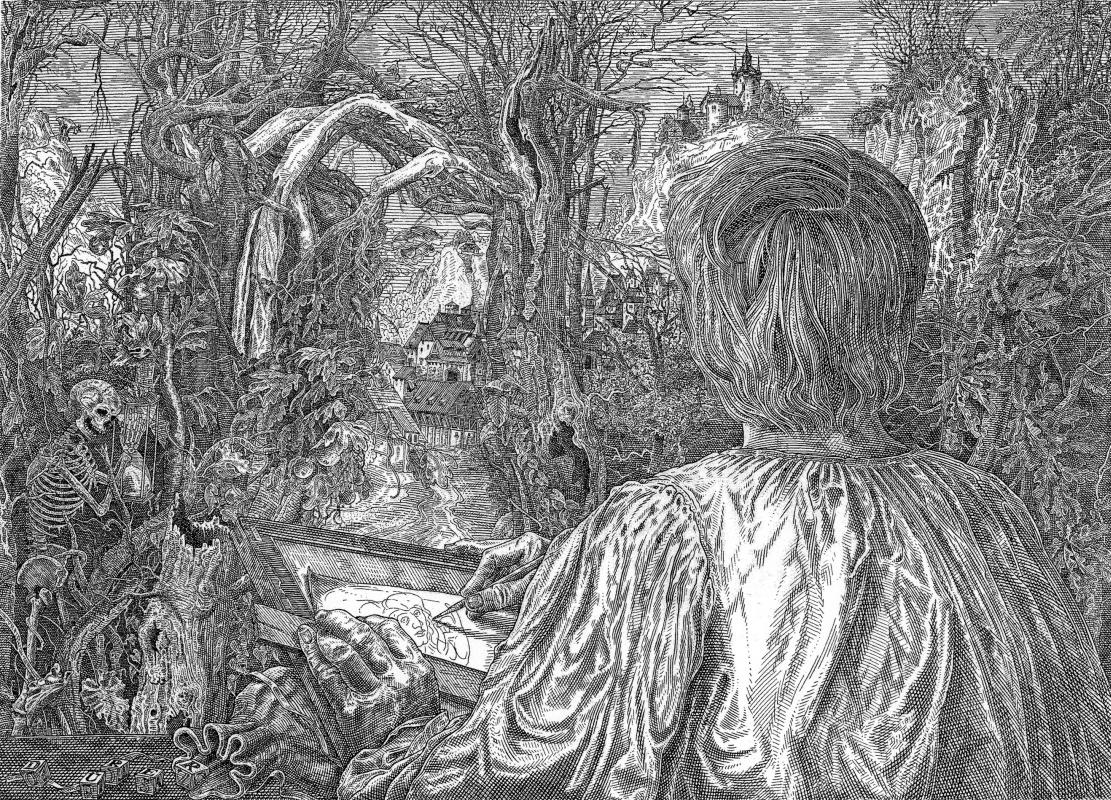 Istvan Oros. Dürer in the forest