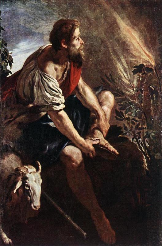 Доменико Фетти. Моисей перед Неопалимой Купиной