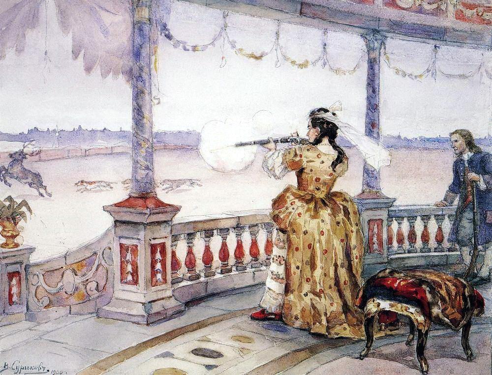 Василий Иванович Суриков. Императрица Анна Иоанновна