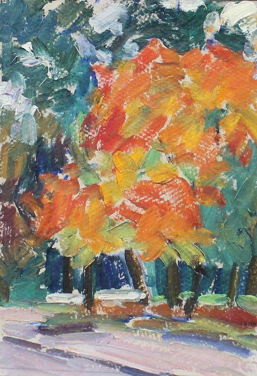 Eugene Mikhailovich Emelyanov. Yellowed maple