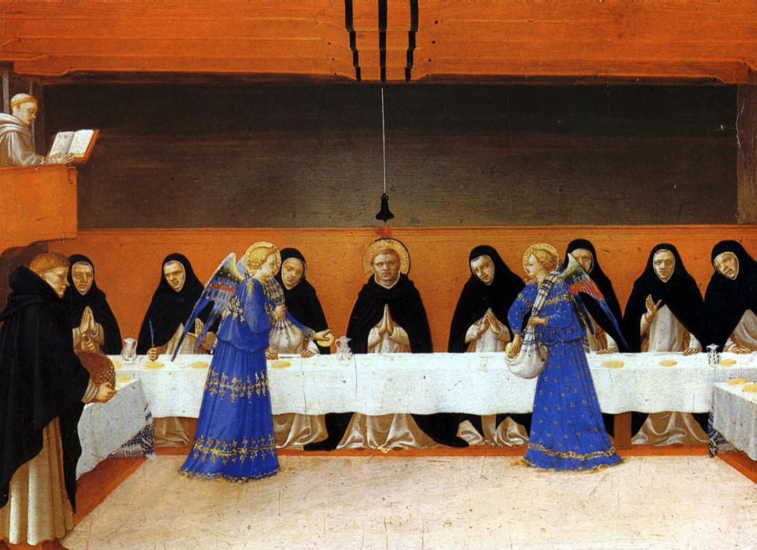 Фра Беато Анджелико. Ангелы подают пищу монахам