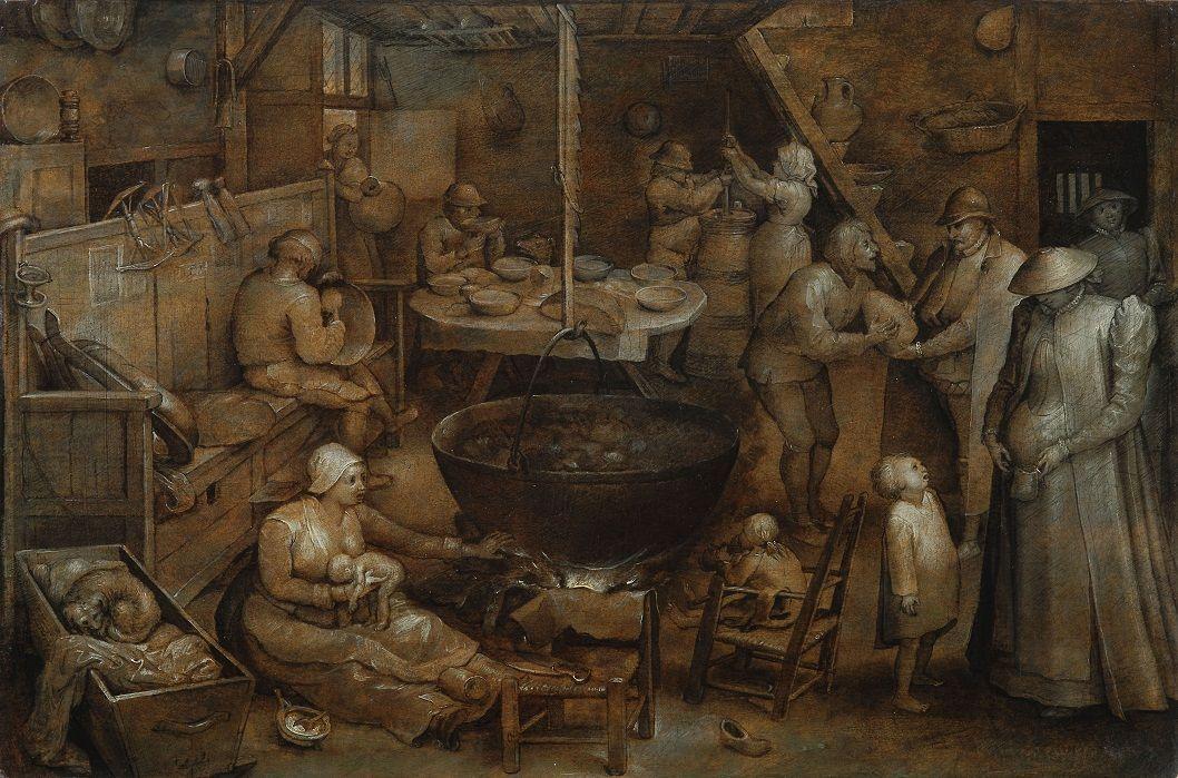 Jan Bruegel The Elder. Visit to farm house