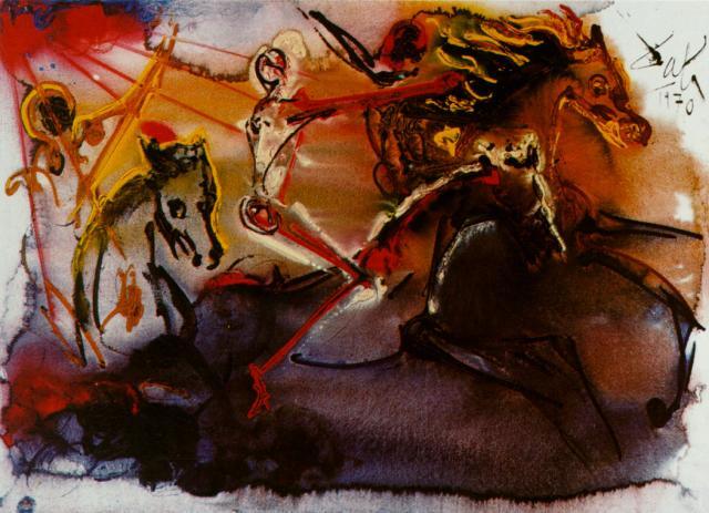Salvador Dali. Horseman Of The Apocalypse
