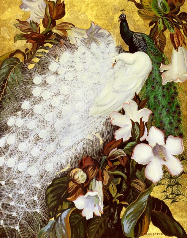 Джесси Армс Ботк. Белый и синий павлины