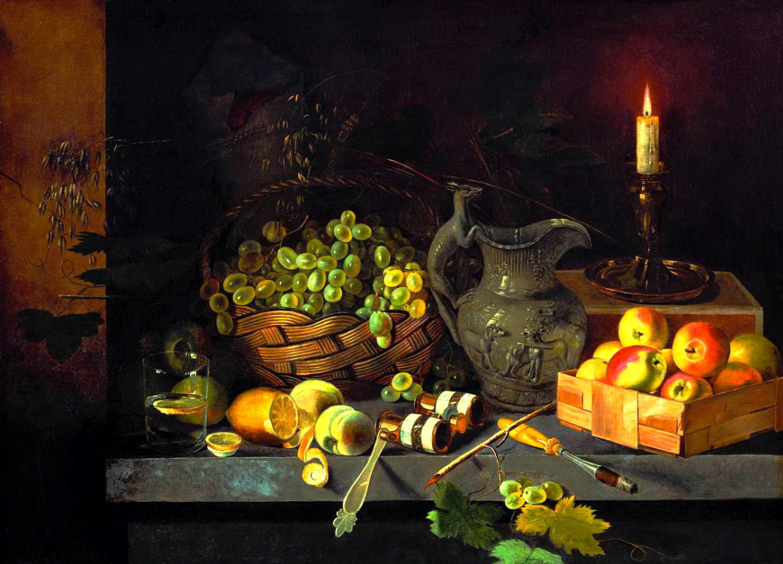 Ivan Fomich (Trofimovich) Khrutsky. Still life with candle