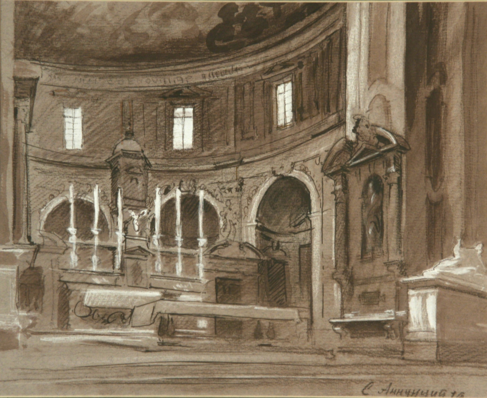 Andrey Noarov. The interior of the Church S..Annunziata in Florence