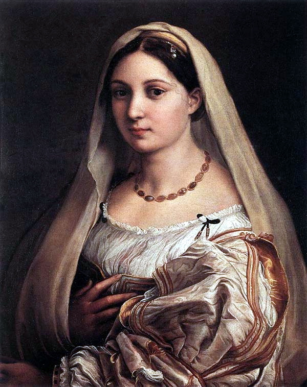 Donna Velata (the veiled Woman, portrait Fornarina)