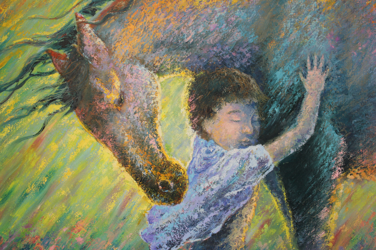 Kanat Dulatovich Abdin. Boy with horse