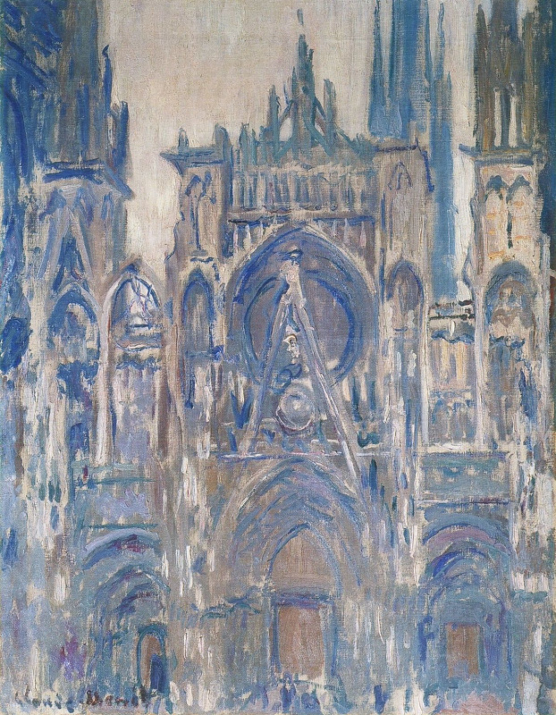 Claude Monet. Rouen Cathedral, study of the main entrance