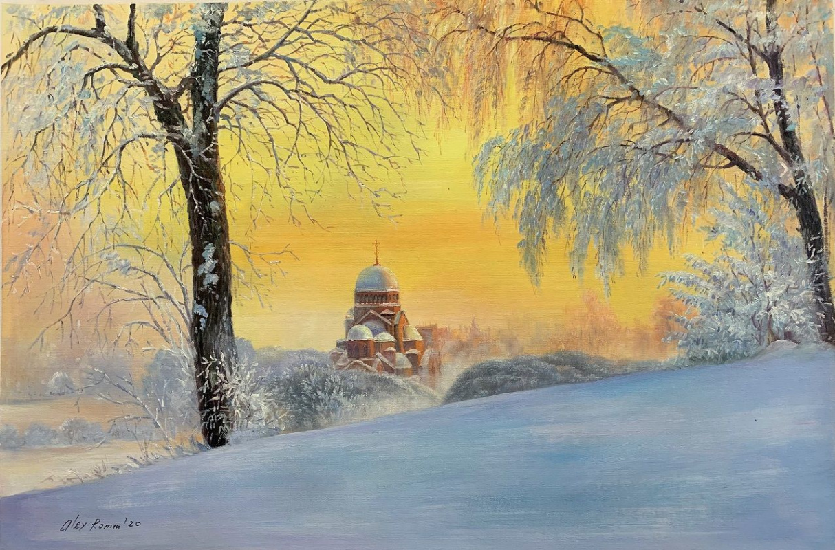Alexander Romm. Early in the morning at dawn ... In Murinsky Park, St. Petersburg