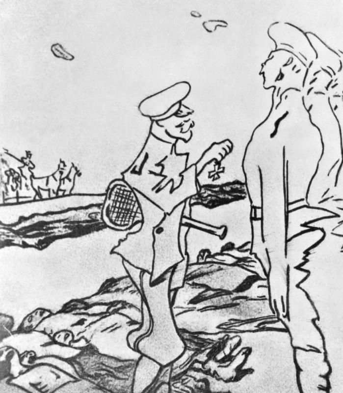 Валентин Александрович Серов. 1905 год. После усмирения. Фрагмент
