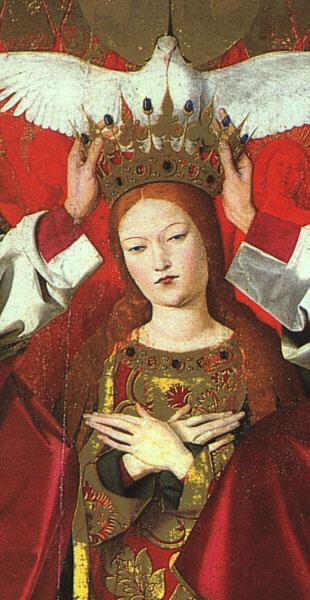 Angerran Sharonton. The coronation of the virgin (detail)