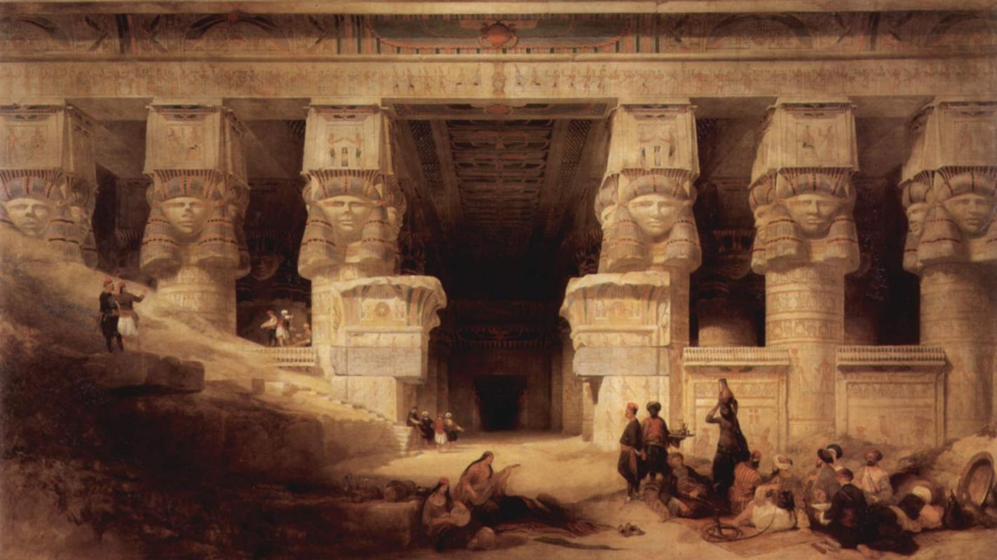 Дэйвид Робертс. Храм в Дендере