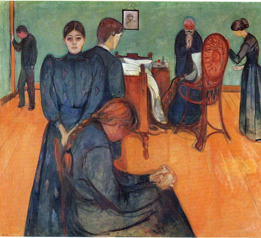 Edward Munch. Death in the sickroom