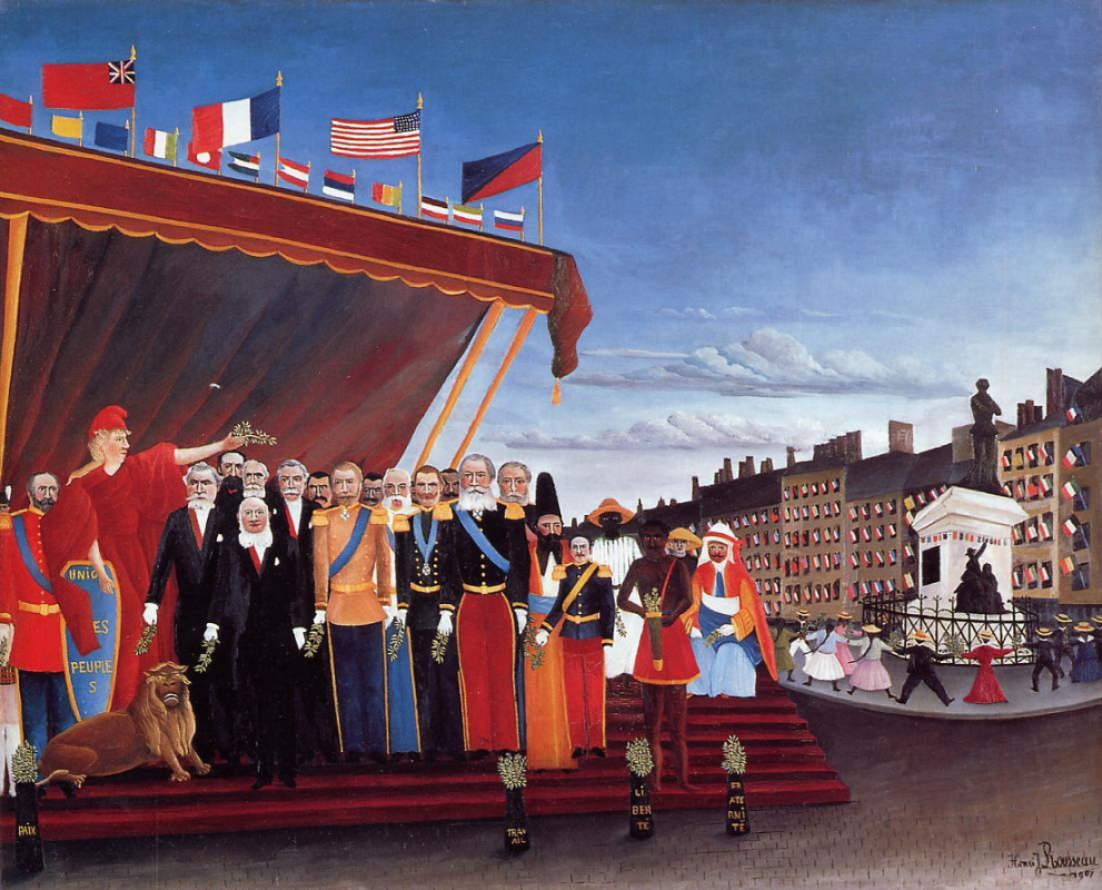Henri Rousseau. The representatives of foreign powers