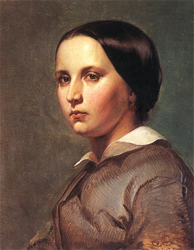 Ян Матейко. Портрет Марии Валерии Матейко Голиховской, сестры художника