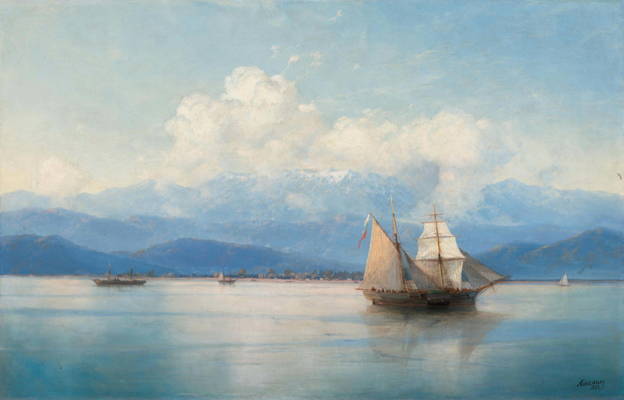 Ivan Aivazovsky. Ships near the coast