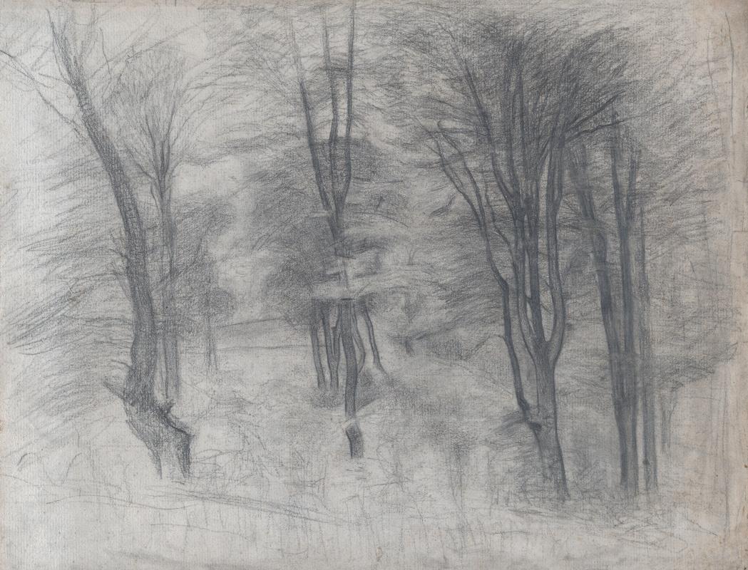 Вильгельм Хаммерсхёй. Деревья на холме