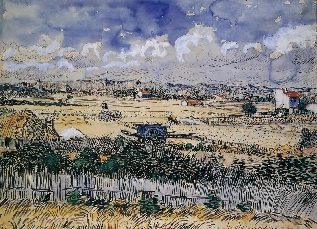 Vincent van Gogh. LA MOISSON EN PROVENCE