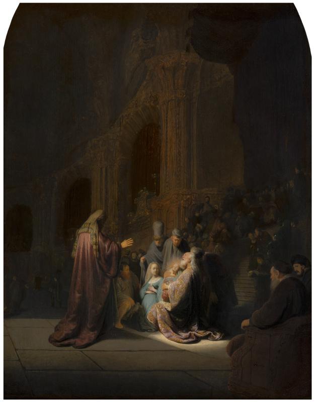 Рембрандт Харменс ван Рейн. Песнь Симеона Богоприимца