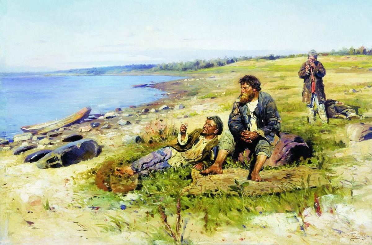Vladimir Egorovich Makovsky. On the Volga