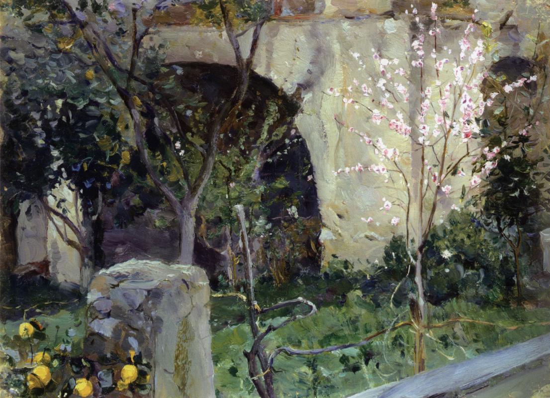 Mikhail Vasilyevich Nesterov. Capri. Almonds in bloom. Etude