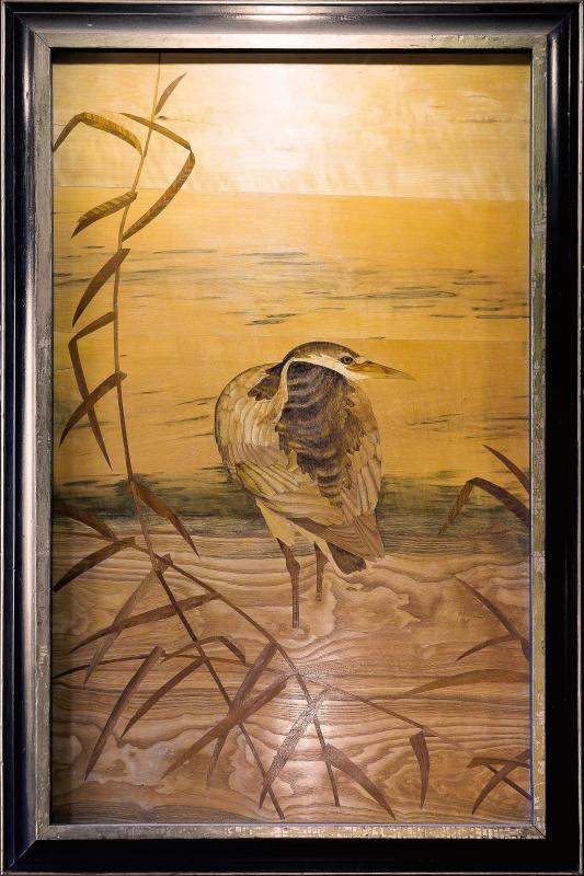 Constantine Krivoshein. Heron in reeds