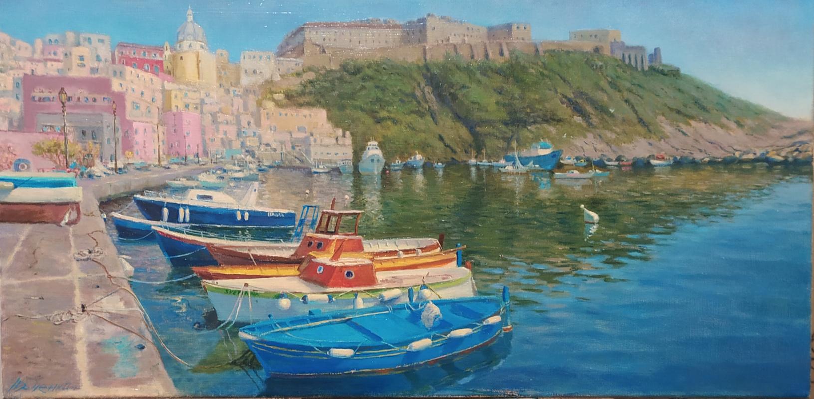 "Dmitry Ivanovich Yurchenko. ""Boats in the port"""