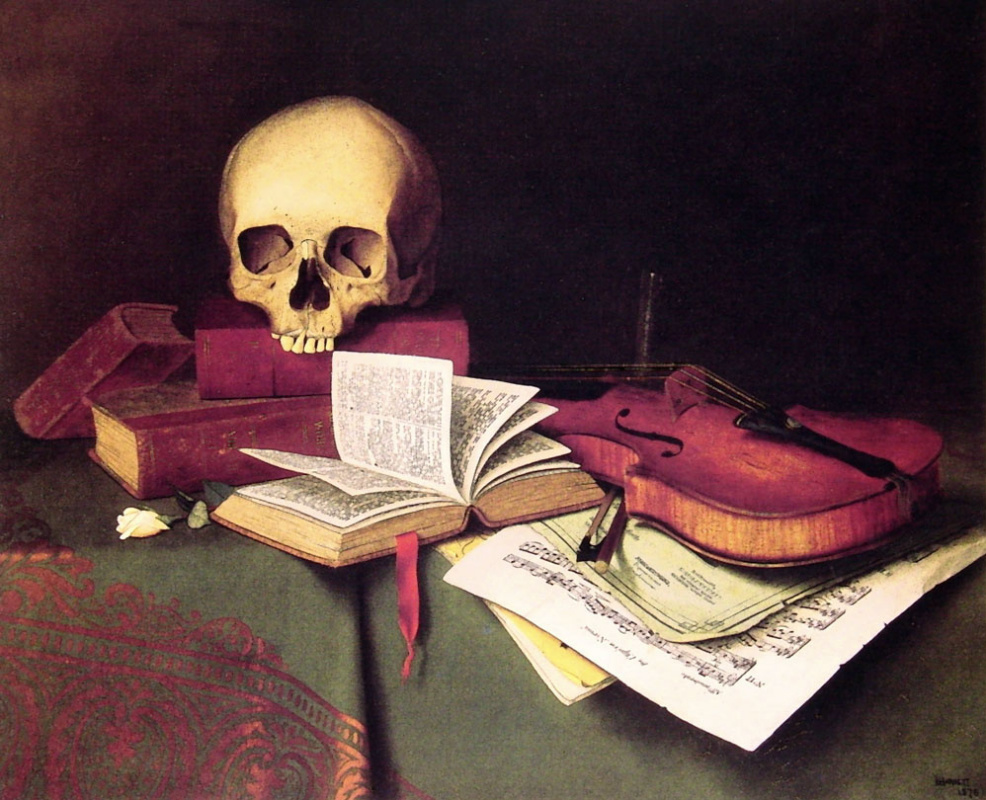 William Michael Harnett. Mortality and immortality
