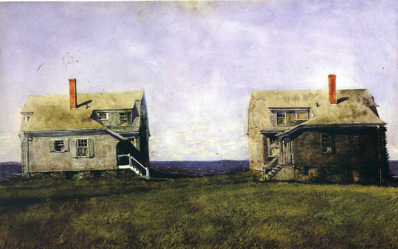 Jamie Wyeth. Semi-detached house